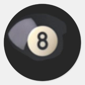Billard Ball 8 Runder Aufkleber