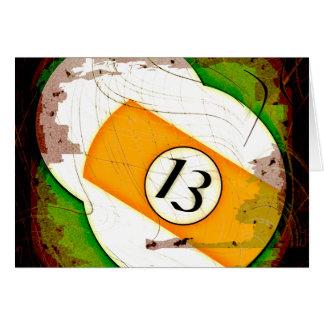 BILLARD-BALL NR. 13 KARTE
