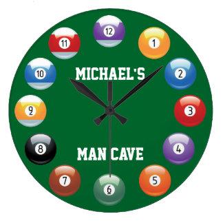 Billard-Ball-personalisierte Wand-Uhr Große Wanduhr