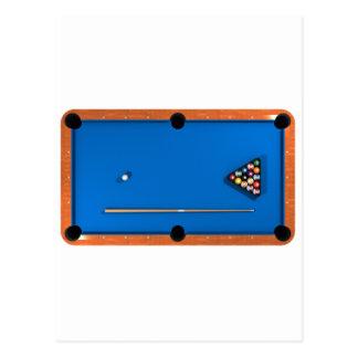Billard/Billardtisch: Blau geglaubt: Postkarte