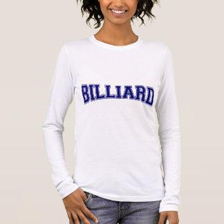 Billard-Hochschulart Langarm T-Shirt