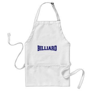 Billard-Hochschulart Schürze