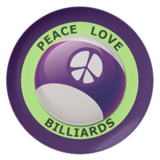 Billard-Platte Teller