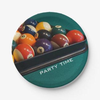 Billard-Pool-Ball-PapierTeller Pappteller