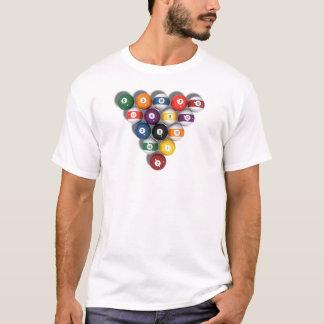 Billard/Pool-Bälle mit Tropfen-Schatten: T-Shirt