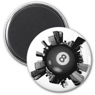 Billard-Stadt Runder Magnet 5,7 Cm