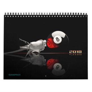 Billard trägt 2018 ein abreißkalender