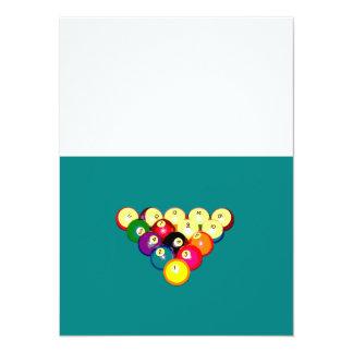 Billard-volles Gestell 8-Ball 14 X 19,5 Cm Einladungskarte