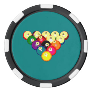 Billard-volles Gestell 8-Ball Poker Chips