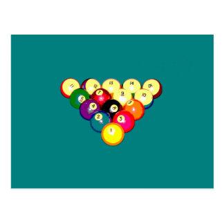 Billard-volles Gestell 8-Ball Postkarte