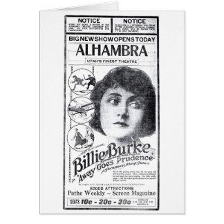 Billie Burke 1920 Vintage Zeitungsannonce Karte