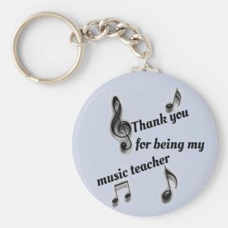 Billig danke Musik-Lehrer-Anerkennung Schlüsselanhänger
