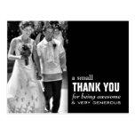 Billige Hochzeit danken Ihnen, das lustige Foto zu Postkarte