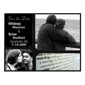 Billige Hochzeits-Einladungs-Foto-Postkarte Postkarte