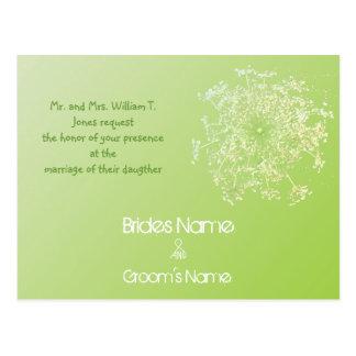 Billige Hochzeits-Einladungs-Postkarten Postkarte