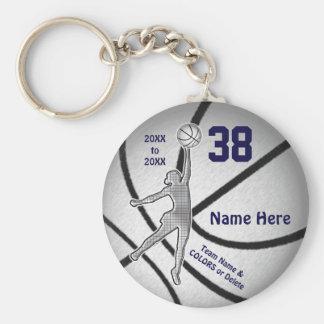 Billige Mädchen-Basketball-Geschenke, 4 Textboxen Schlüsselanhänger