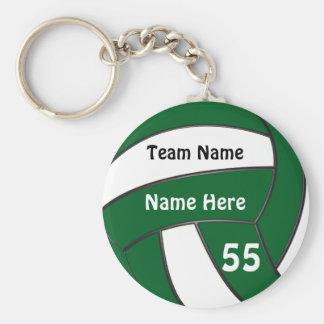 Billige personalisierte grüne Volleyball-Geschenke Schlüsselanhänger