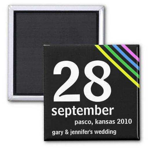 Billiger Save the Date Wedding Magnet Quadratischer Magnet
