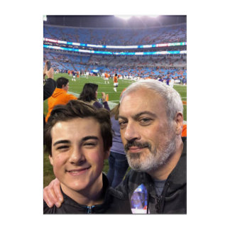 Billy and Chase at Clemson Game December 2017 Acryl Wandkunst