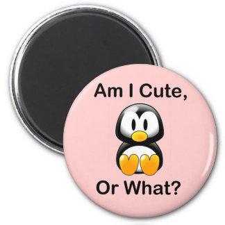Bin ich niedlich oder was? runder magnet 5,7 cm