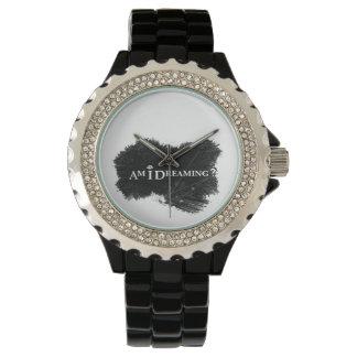 Bin ich Rhinestone-Uhr träumend Uhr
