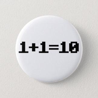 Binär Runder Button 5,1 Cm