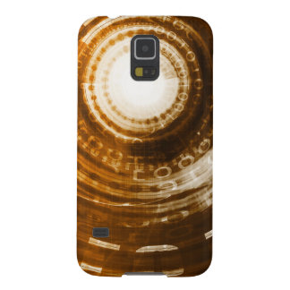 Binäre Daten-abstrakter Hintergrund für Digital Samsung Galaxy S5 Cover
