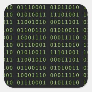Binärer Code Quadratischer Aufkleber