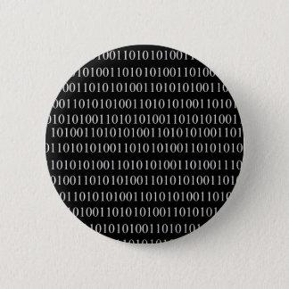 Binärer Code Runder Button 5,1 Cm