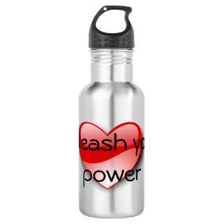 Binden Sie Ihre Powerherz-Wasserflasche los Edelstahlflasche