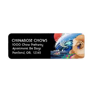 BINDI CHOWABUNGA- Rücksendeadressen-Aufkleber