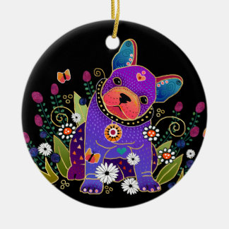 BINDI FRENCHIE französische Bulldogge VERZIERUNG Keramik Ornament