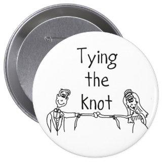 Bindung den Knotenknopf (enorm) Runder Button 10,2 Cm