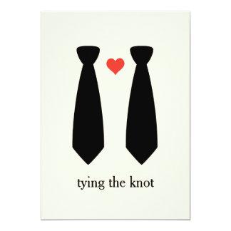 Bindung der Knoten homosexuellen Hochzeit 12,7 X 17,8 Cm Einladungskarte
