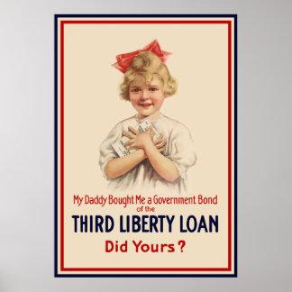 Bindung des kleinen Mädchen-WW1 -- Grenze Poster