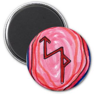 Bindungs-Rune für Geschäftserfolg Runder Magnet 5,1 Cm