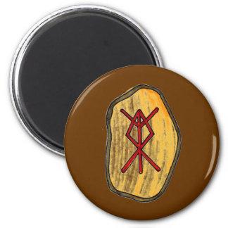 Bindungs-Rune: Zuhause-Schutz Runder Magnet 5,7 Cm