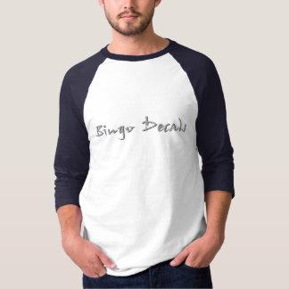 Bingo-Abziehbilder 3/4 Hülse Tshirts