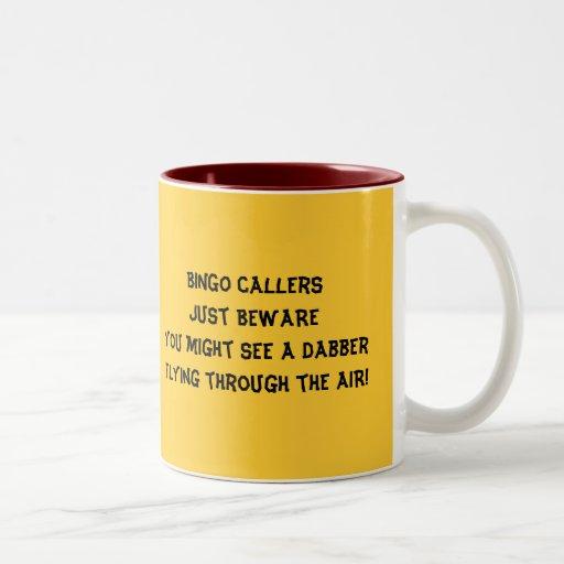 BINGO-Anrufer Kaffeetassen