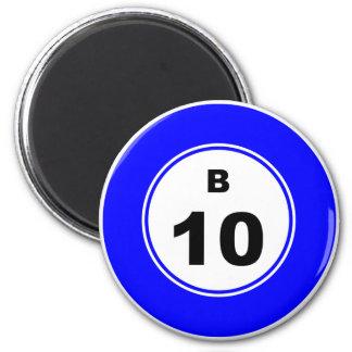 Bingo-Ball B Runder Magnet 5,7 Cm