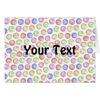 Bingo-Bälle Grußkarte