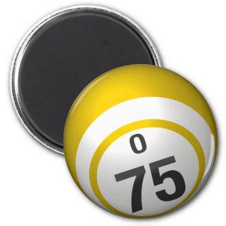 Bingo-Ballmagnet O 75 Runder Magnet 5,1 Cm