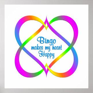 Bingo, das Herzen verbindet Poster