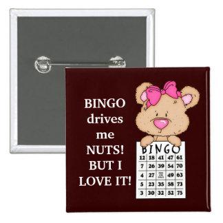 Bingo fährt mich Knopf Quadratischer Button 5,1 Cm