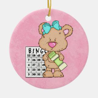 Bingo-Freundverzierung Rundes Keramik Ornament