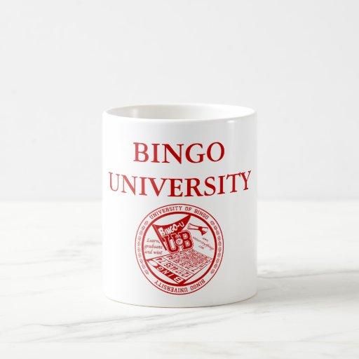 BINGO-HOCHSCHULoffizielle rote Siegel-Tasse