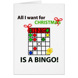 BINGO I wollen ein Bingo für Weihnachten Grußkarte