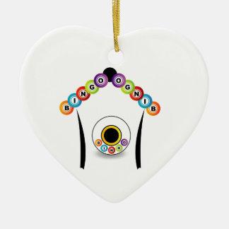 Bingo Keramik Herz-Ornament