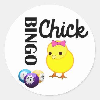 Bingo-Küken Runder Aufkleber