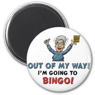 Bingo-Liebhaber Runder Magnet 5,1 Cm